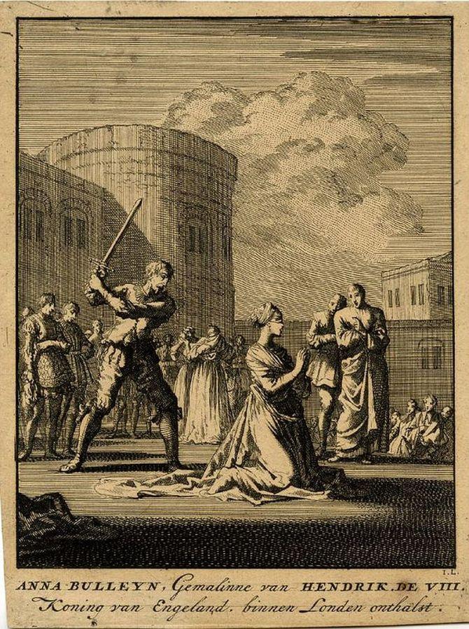 Illustration of the beheading of Anne Boleyn