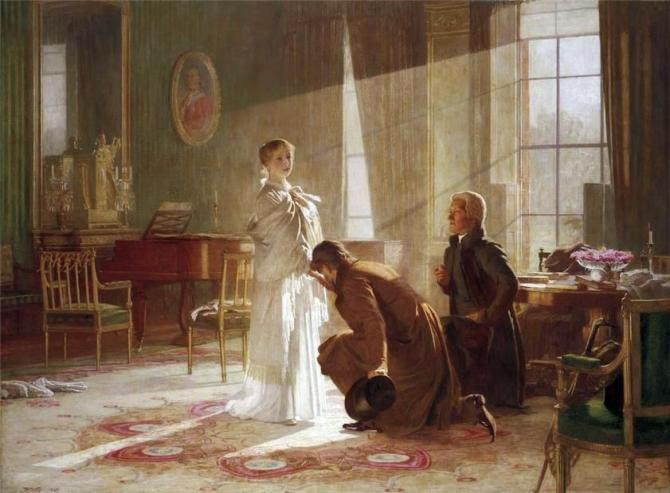 The young Victoria is told that she will be Queen