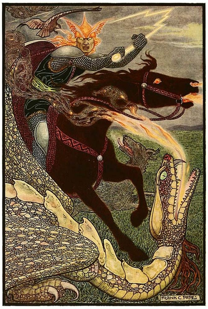 Illustration (1916) by Frank C. Papé from The Russian Story Book