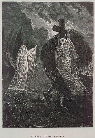 Scary illustration by Émile Bayard for Histoire de la magie (1870)