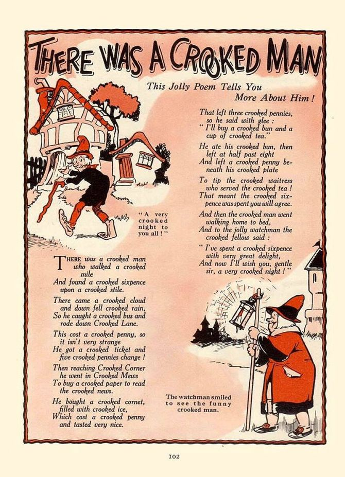 There Was a Crooked Man (Nursery Rhyme) from Rainbow Annual (1956)