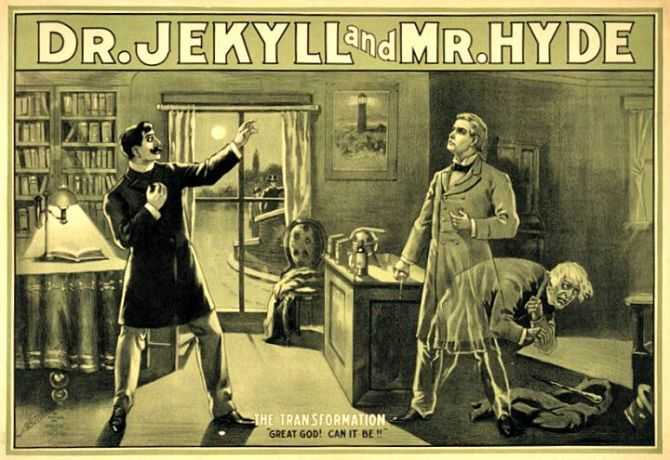 1880s poster for The Strange Case of Dr. Jekyll & Mr. Hyde