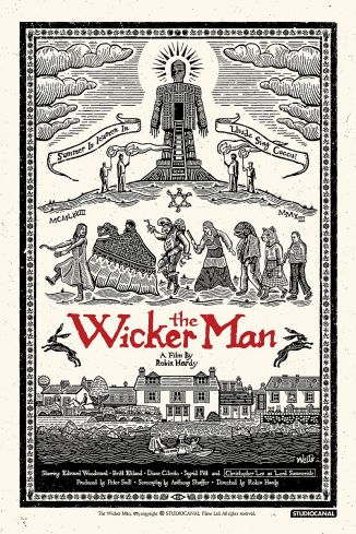 A modern redesign of a poster from a classic film - The Wicker Man (1973)