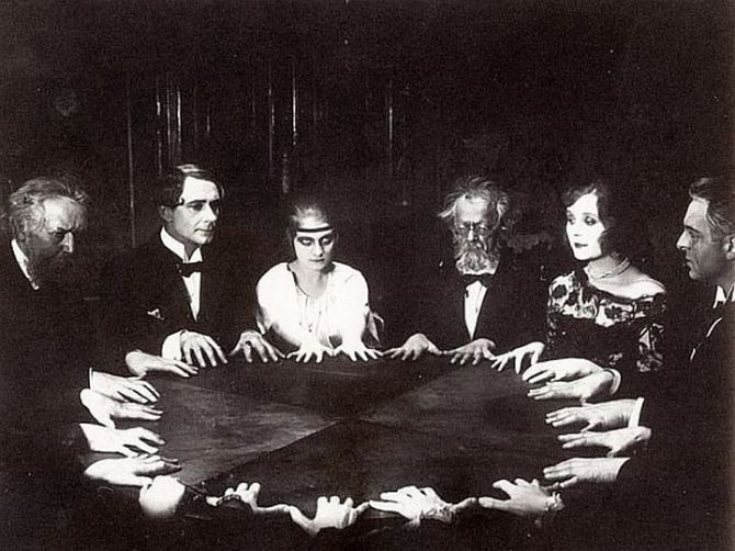 A Victorian seance (c.late 1890s)