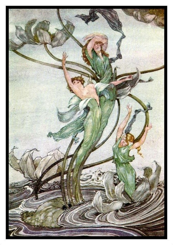 1924, illustration by Grace Rowlands for Wonder Tales of Alsace