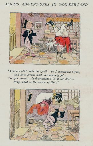 Father William from Alice in Wonderland (1907) as illus. by Thomas Maybank (1869-1929)_800