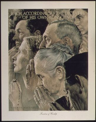 Freedom of Worship (1943) by Norman Rockwell