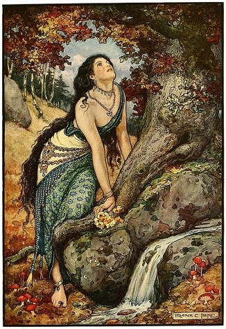 Illustration (1916) by Frank C. Papé (1878-1972) from The Russian Story Book