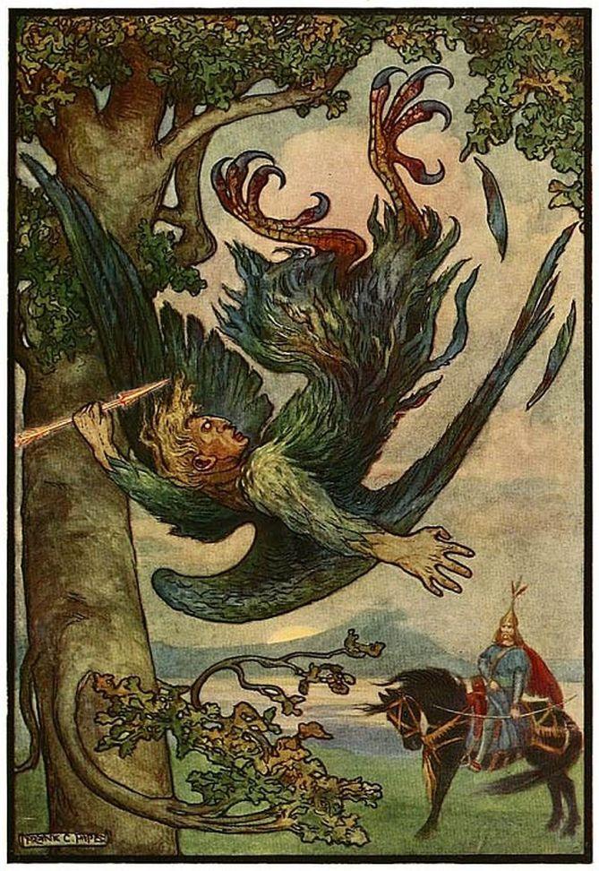 Illustration (1916) by artist, Frank C. Papé