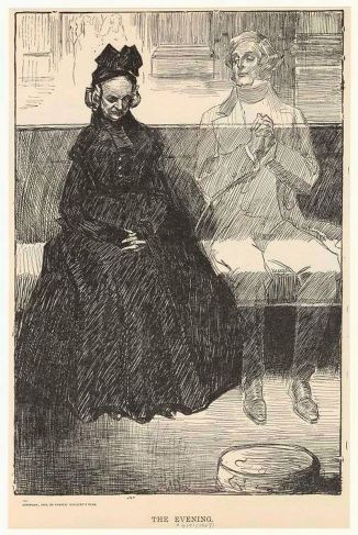 Illustration of The Evening (1899) by Charles Dana Gibson