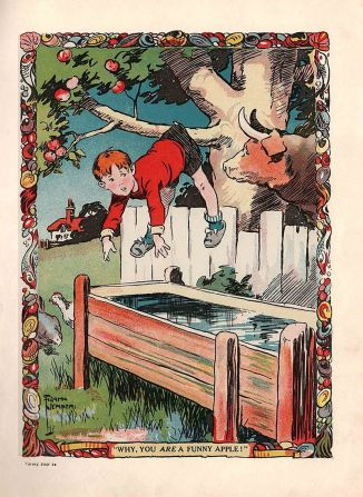 """""""Why, you are a funny apple!"""" from The Bruin Boy's Annual (1928)"""
