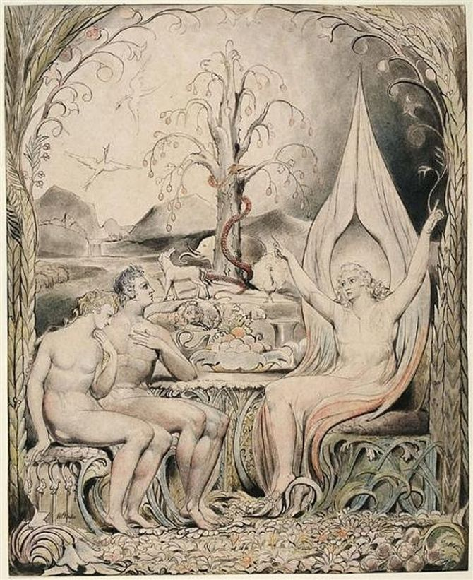 Illustration to John Milton's Paradise Lost (1807) by William Blake