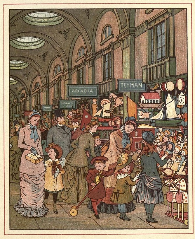 The Arcade from London Town (1883) by Thomas Crane