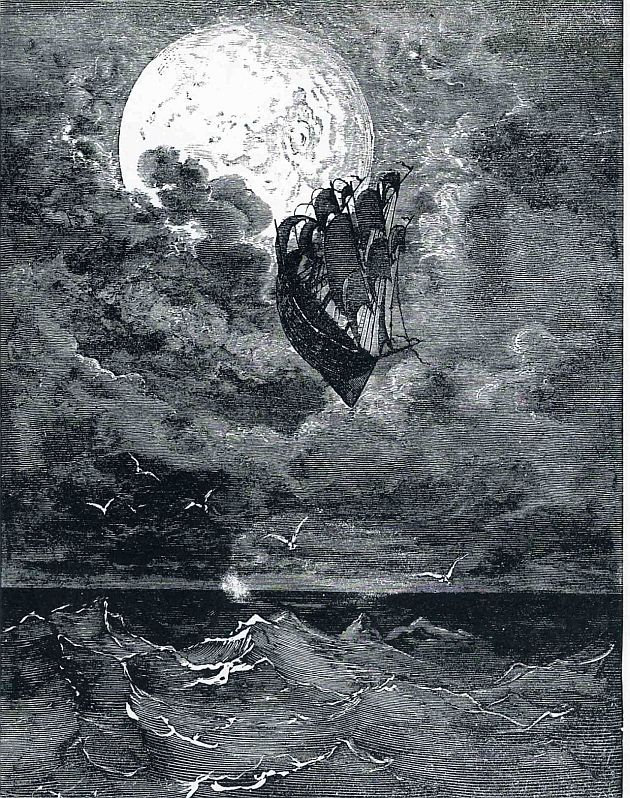 A Voyage to the Moon (1868) by Gustave Doré